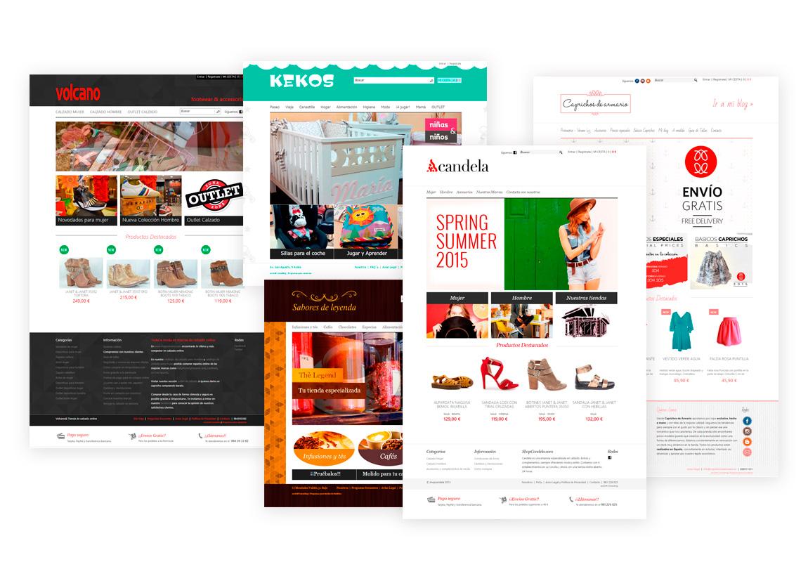 webs de comercio electrónico